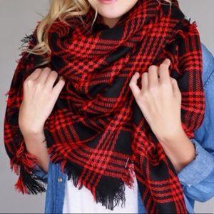 81a727ddf2e5 ... Red   Black Plaid Blanket Scarf ...